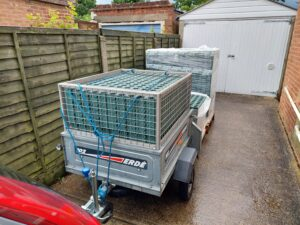 Preparing to transport grids to Scout HQ